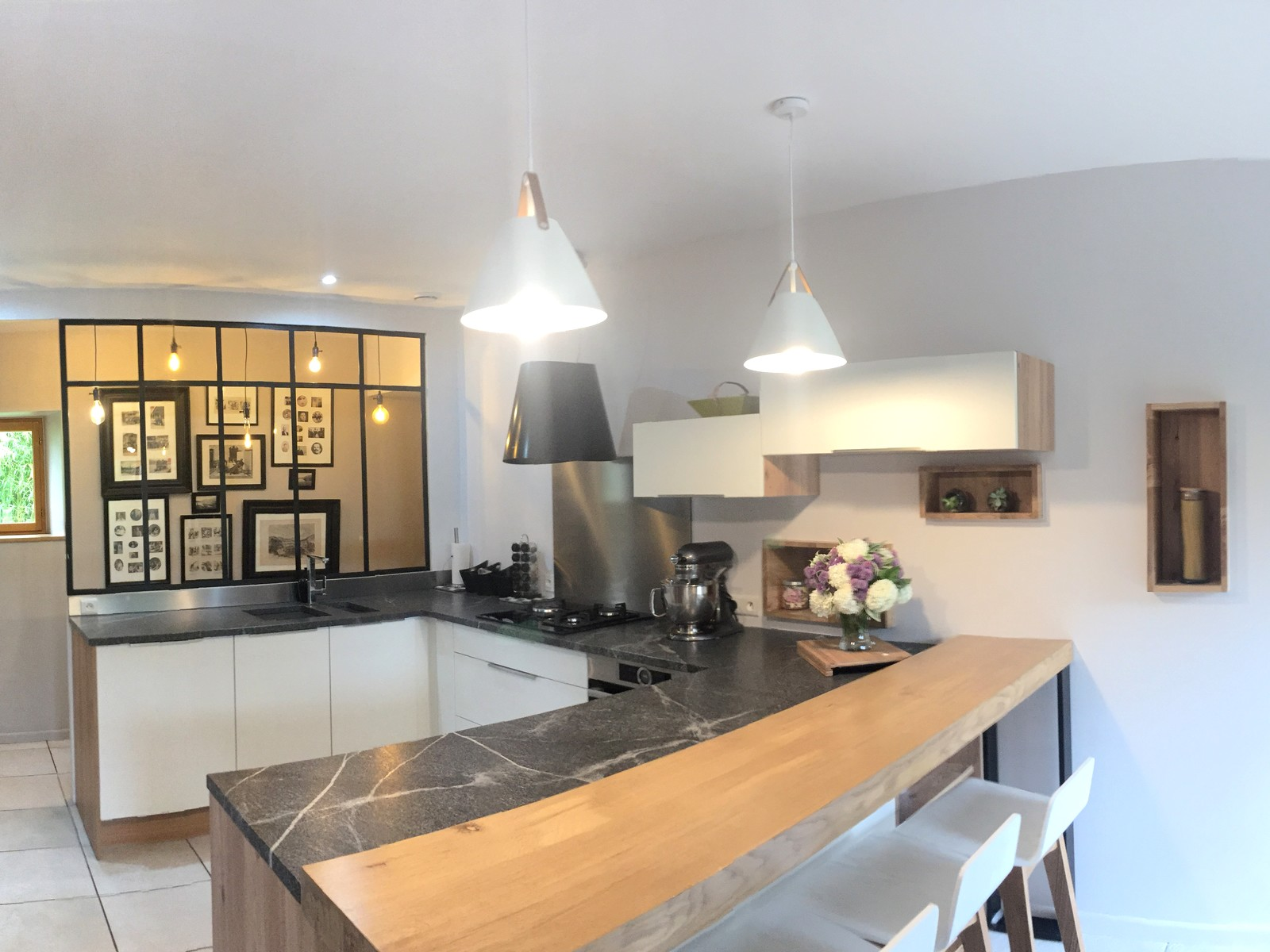 Plan De Cuisine En Marbre granit jurassic grey cuir : effet marbre cuisine ambiance