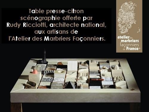Table presse citron sc nographie rudy ricciotti - Presse citron de table individuel ...